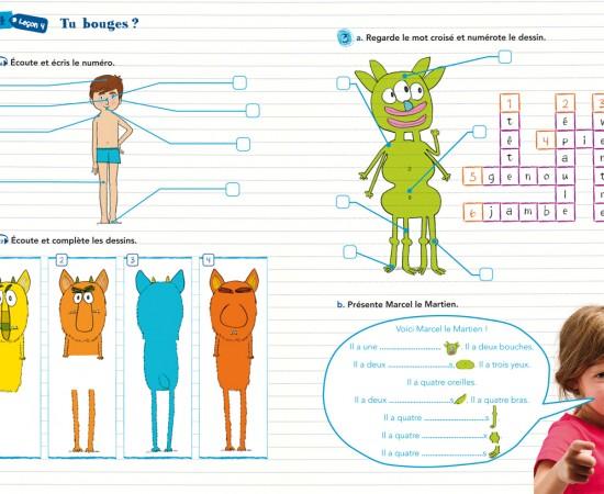 Maquette - Cahier d'activités Loustics1 - Hachette FLE / Sylvaine Collart