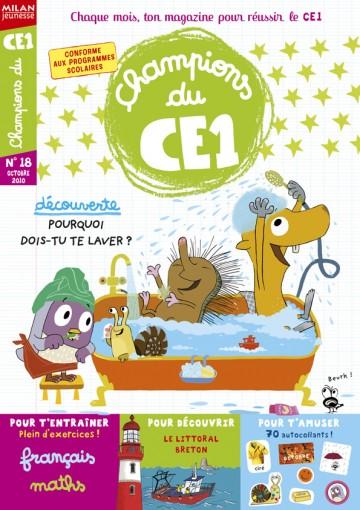 Magazine Champions du CE1 - 36 pages (abonnement) et 58 pages (kiosque)