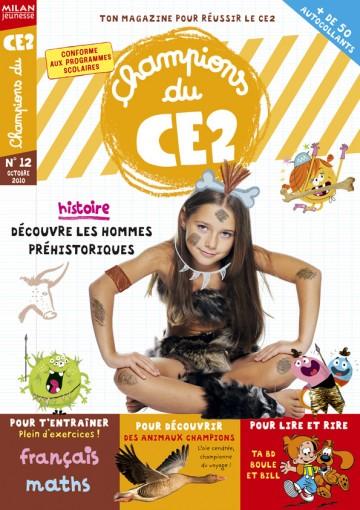 Magazine Champions du CE2 - 36 pages (abonnement) et 58 pages (kiosque)