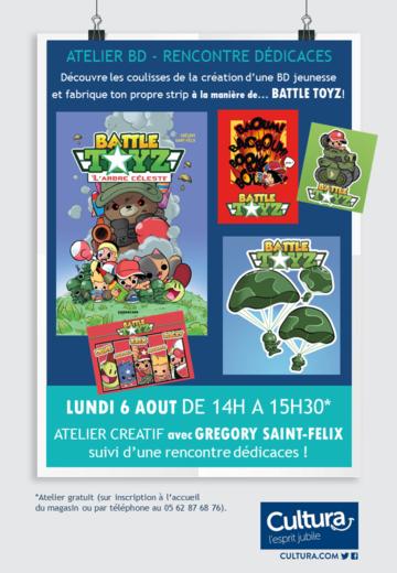 Animation BD - Grégory Saint-Félix - Cultura Portet