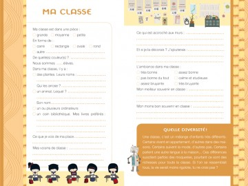 A l'école - kit carnet 128 pages + matériel scolaire