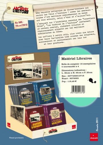 Flyer publicitaire Les Archives de l'Histoire - Recto