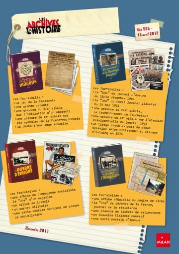 Flyer publicitaire Les Archives de l'Histoire - Verso