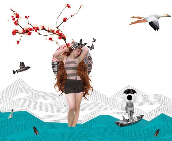 Collages Poudingue - Carte postale Vénus