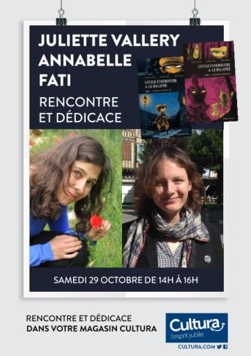 Dédicaces Juliette Vallery - Annabelle Fati / Cultura Portet