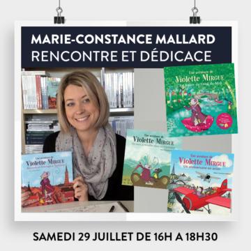 Dédicaces Marie-Constance Mallard - Violette Mirgue / Cultura Portet