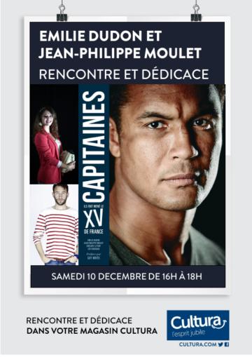 Emilie Dudon - Jean-Philippe Moulet - Capitaines - Rugby / Cultura Portet