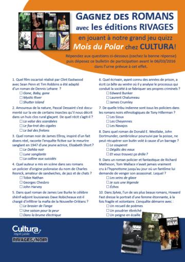 Jeu concours - Mois du polar / Cultura Portet