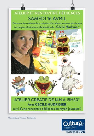 Atelier illustration - Cécile Hudrisier - Mois des enfants / Cultura Portet