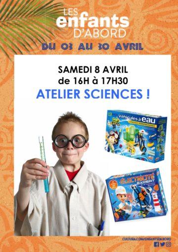 Atelier sciences / Mois des enfants / Cultura Portet