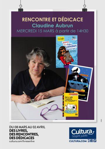 Dédicaces Claudine Aubrun / Cultura Portet