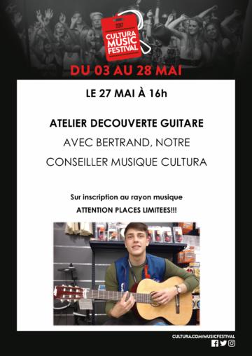 Atelier découverte de la guitare / Culturamusictour / Cultura Portet