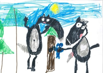 Animation Mascotte Loup et Louve - Auzou Cultura Portet