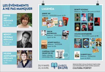 Hélène Montardre - Benoît Séverac - Halim Mahmoudi - Annie Jay - Agnès Savelli - Livres en live / Cultura Portet