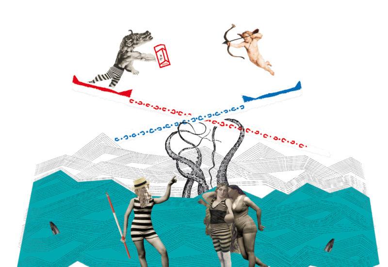 """Collage """"Neptune à Cette"""" de Sylvaine Collart"""